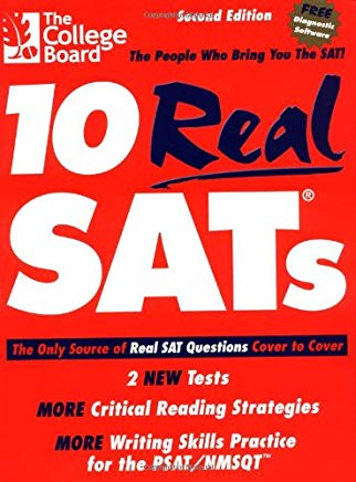 10 Real SATs, Second Edition Cover