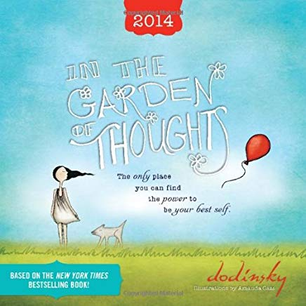 2014 In the Garden of Thoughts wall calendar Cover