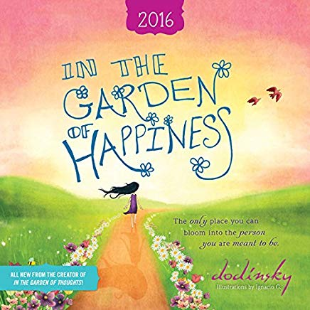 2016 In the Garden of Happiness Wall Calendar Cover