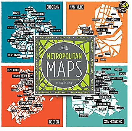 2016 Metropolitan Maps Wall Calendar by These Are Things (2015-08-10) Cover