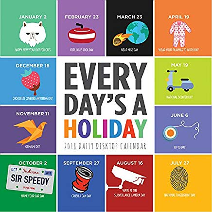 2018 Every Day's A Holiday Daily Desktop Calendar Cover