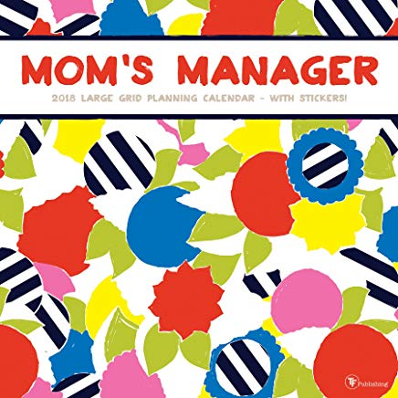 2018 Mom's Manager Large Grid Planning Wall Calendar Cover