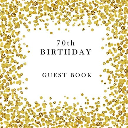 70th Birthday Guest Book Cover