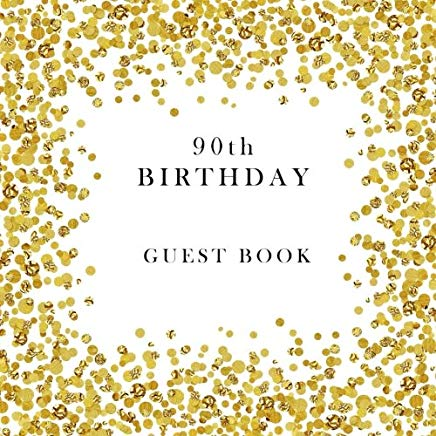 90th Birthday Guest Book Cover