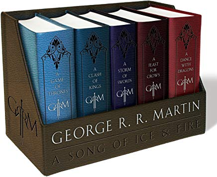 A Game of Thrones / A Clash of Kings / A Storm of Swords / A Feast for Crows / A Dance with Dragons (Song of Ice and Fire Series) (A Song of Ice and Fire) Cover