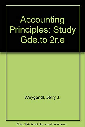 Accounting Principles, Study Guide Cover