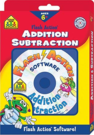 Addition and Subtraction Flash Action Software (School Zone Interactive Flash Action Software) Cover
