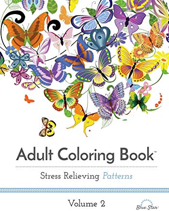 Adult Coloring Book: Stress Relieving Patterns Volume 2 Cover