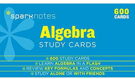 Algebra SparkNotes Study Cards Cover