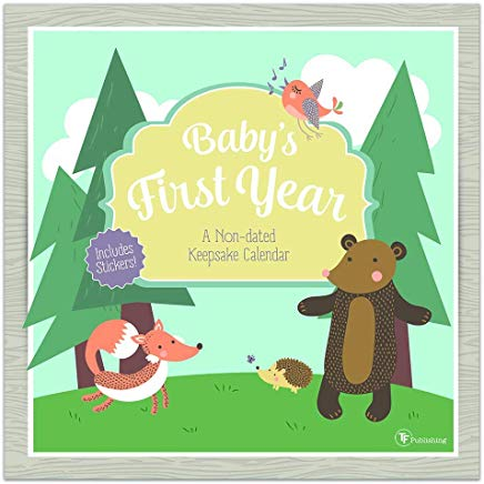 Babys First Year Woodland: A Non-Dated Keepsake Calendar (With Stickers) Cover