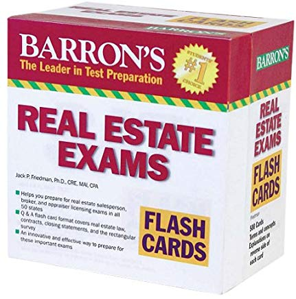 Barron's Real Estate Exam Flash Cards Cover