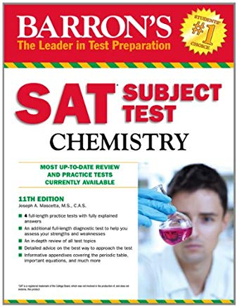 Barron's SAT Subject Test Chemistry, 11th Edition Cover