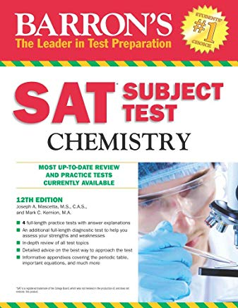 Barron's SAT Subject Test Chemistry, 12th Edition Cover