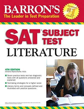 Barron's SAT Subject Test Literature 2009 (BARRON'S HOW TO PREPARE FOR THE SAT II LITERATURE) Cover