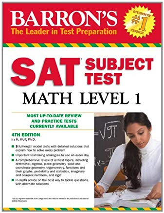Barron's SAT Subject Test Math Level 1, 4th Edition Cover
