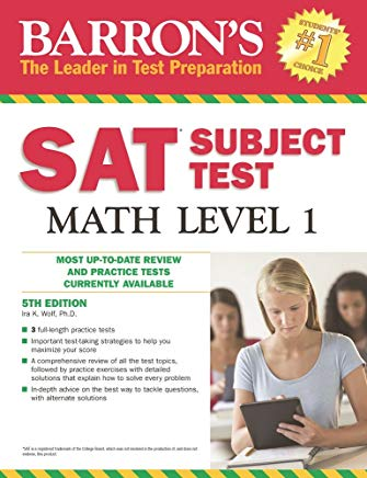 Barron's SAT Subject Test Math Level 1, 5th Edition Cover