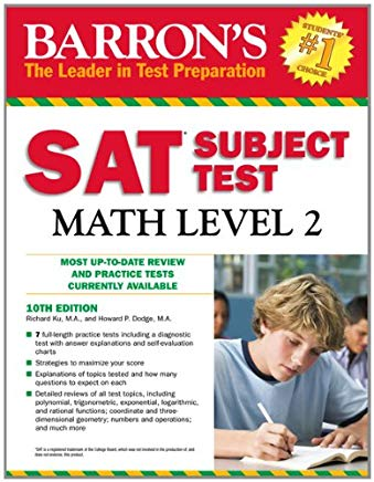 Barron's SAT Subject Test Math Level 2, 10th Edition Cover