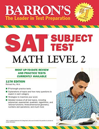 Barron's SAT Subject Test Math Level 2, 11th Edition Cover