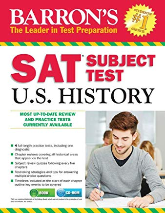 Barron's SAT Subject Test: U.S. History 3rd Edition Cover