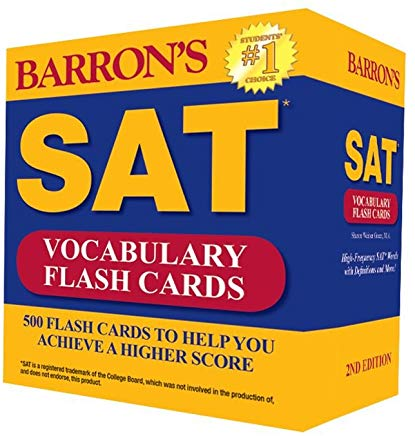 Barron's SAT Vocabulary Flash Cards: 500 Flash Cards to Help You Achieve a Higher Score Cover