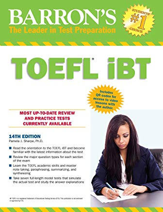 Barron's TOEFL iBT Test Of English as a Foreign Language,14th edition Cover