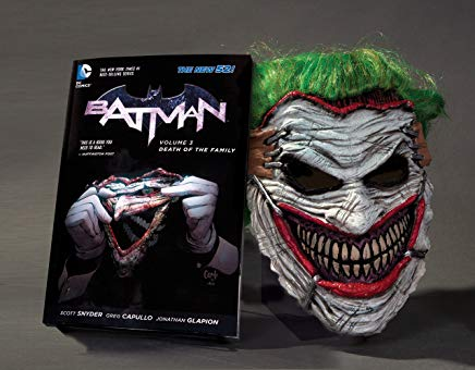 Batman: Death of the Family Book and Joker Mask Set Cover