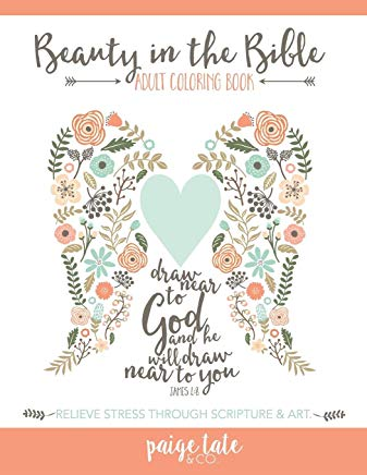 Beauty in the Bible: Adult Coloring Book Cover