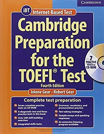 Cambridge Preparation for the TOEFL Test (Book & CD-ROM) by Jolene Gear (2006-09-11) Cover