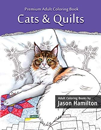 Cats & Quilts: Adult Coloring Book Cover