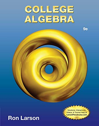 College Algebra Cover