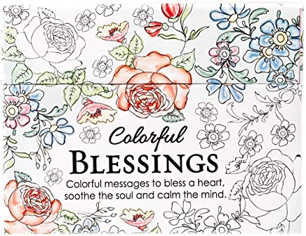 Colorful Blessings: Cards to Color and Share Cover