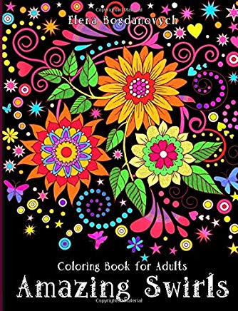 Coloring Book for Adults: Amazing Swirls Cover