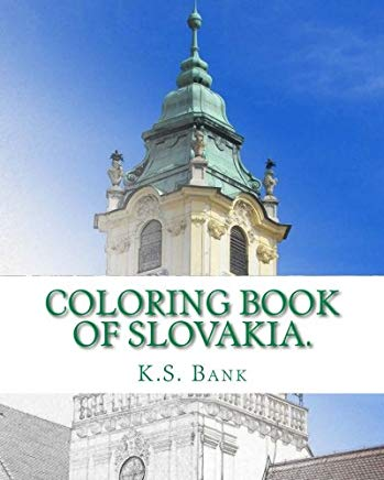 Coloring Book of Slovakia. Cover