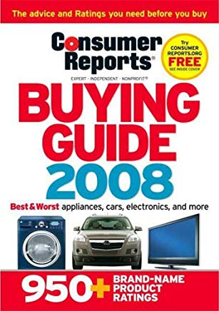 Consumer Reports Buying Guide: Best Buys for 2008 Cover