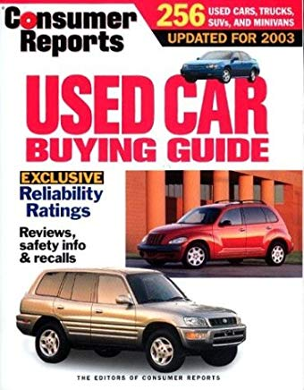 Consumer Reports Used Car Buying Guide 2003 Cover