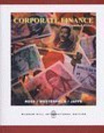 Corporate Finance 7th Edition + Student CD-ROM + Standard & Poor's card + Ethics in Finance PowerWeb by Stephen A. Ross (2005-05-03) Cover
