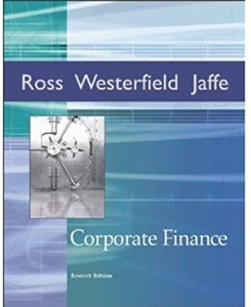 Corporate Finance (McGraw-Hill/Irwin Series in Finance, Insurance, and Real Est) Cover