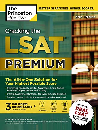 Cracking the LSAT Premium with 3 Real Practice Tests, 27th Edition: The All-in-One Solution for Your Highest Possible Score (Graduate School Test Preparation) Cover