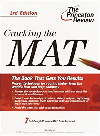 Cracking the MAT, 3rd Edition (Graduate School Test Preparation) Cover