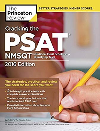 Cracking the PSAT/NMSQT with 2 Practice Tests, 2016 Edition (College Test Preparation) Cover