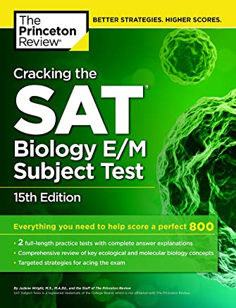 Cracking the SAT Biology E/M Subject Test, 15th Edition (College Test Preparation) Cover