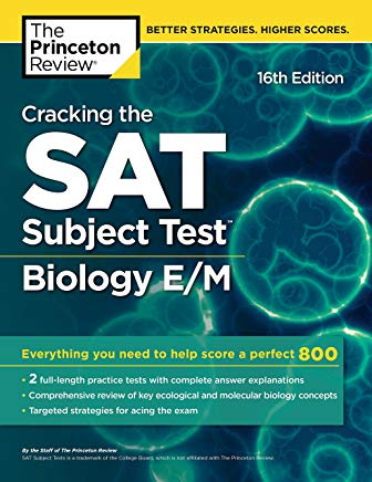 Cracking the SAT Subject Test in Biology E/M, 16th Edition: Everything You Need to Help Score a Perfect 800 (College Test Preparation) Cover