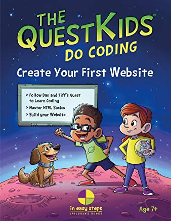 Create Your First Website in easy steps: The QuestKids Do Coding Cover