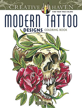 Creative Haven Modern Tattoo Designs Coloring Book (Creative Haven Coloring Books) Cover