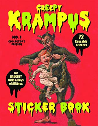 Creepy Krampus Sticker Book No.1: 72 Reusable Stickers for Naughty Girls & Boys of All Ages Cover