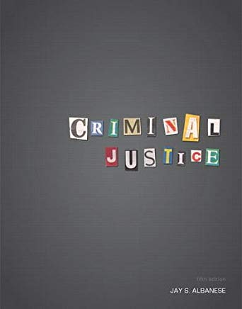 Criminal Justice (5th Edition) Cover