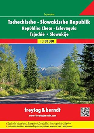Czech Republic and Slovakia Superatlas (English, Spanish, French, Italian and German Edition) Cover