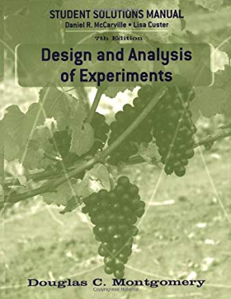 Design and Analysis of Experiments, Student Solutions Manual Cover