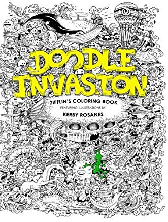 Doodle Invasion: Zifflin's Coloring Book (Volume 1) Cover