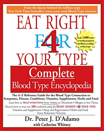Eat Right for 4 Your Type: Complete Blood Type Encyclopedia Cover